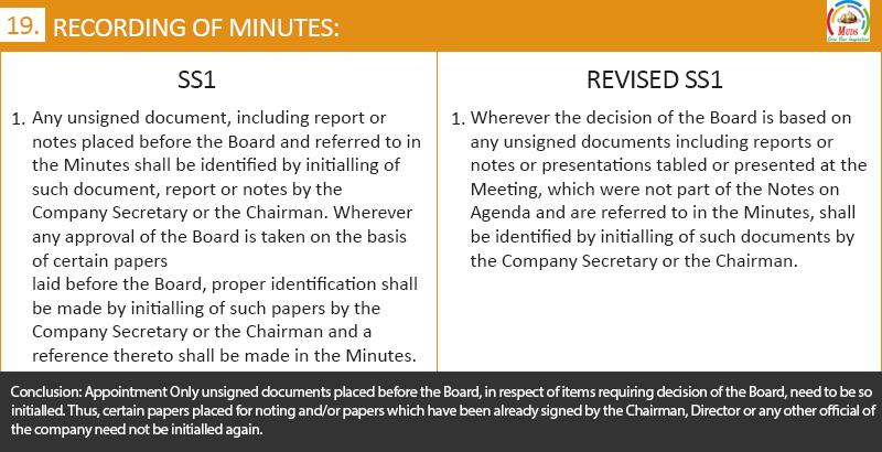 Secretarial Standard 1s