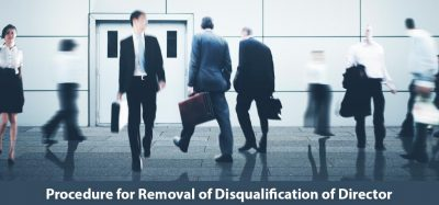 Procedure for Removal of Disqualification of Director
