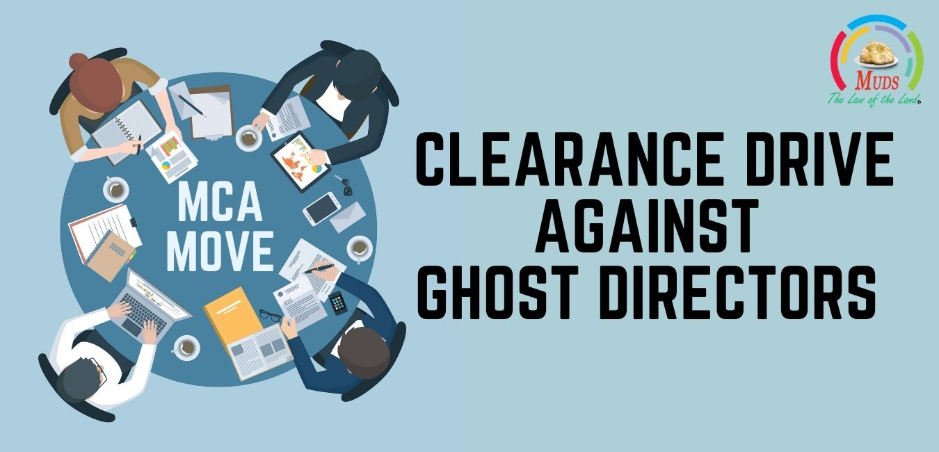 MCA Move_ _Clearance Drive against Ghost Directors_