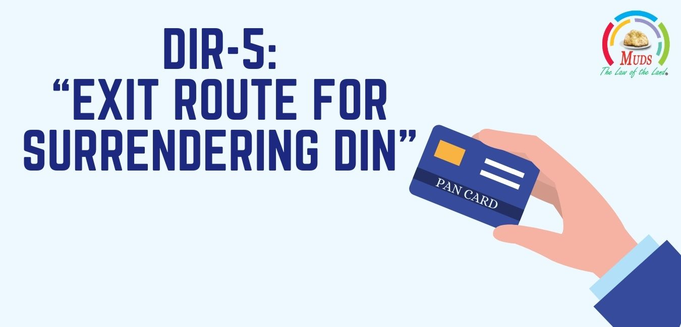 "DIR-5_ ""Exit Route for Surrendering DIN"""