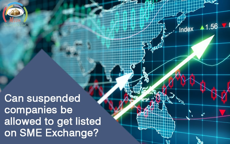 Can suspended companies be allowed to get listed on SME Exchange