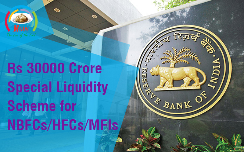 Rs 30000 Crore Special Liquidity Scheme for NBFCs/HFCs/MFIs