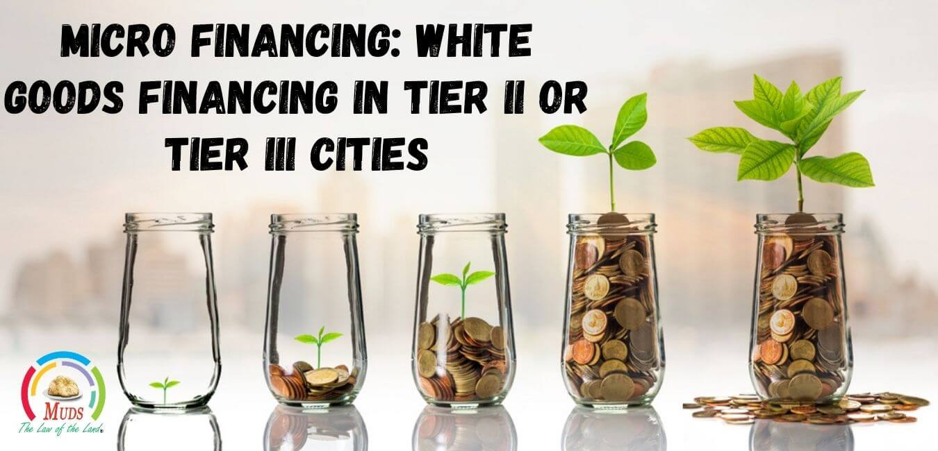 Microfinancing White goods financing in tier 2 or tier 3 cities