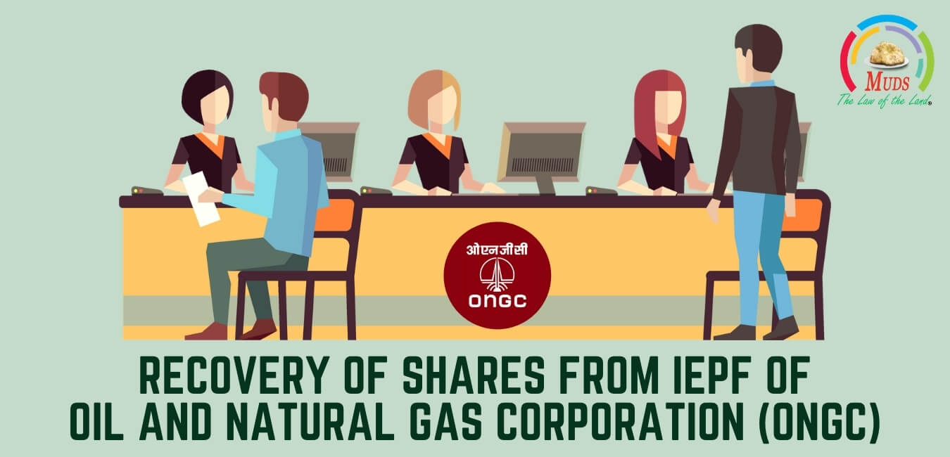 Recovery of shares from IEPF of Oil and Natural Gas Corporation (ONGC)