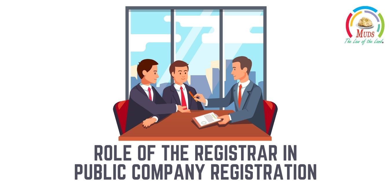 What is the CIN and Role of the Registrar of Company in Public Company Registration